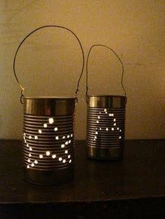 Ordinary Life Magic Tin Can Lanterns Fall Crafts, Crafts To Make, Christmas Activities, Christmas Crafts, Pioneer Day Activities, Ward Christmas Party, Summer Christmas, Tin Can Lanterns, Candle Lanterns