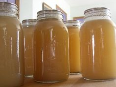 Homemade Chicken Broth. How to make and home canning broth or stock.
