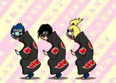 Itachi & Co. silly dance. #Naruto #gif