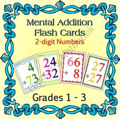 Flash Cards - Mental Addition of 2 Digit Numbers from Math-Games on TeachersNotebook.com -  - Practice addition of 2 digit numbers. Poker-card sized for easy handling.