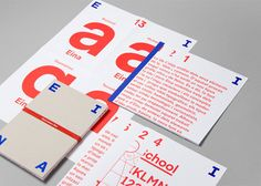 Four letters. Eina! by clase bcn , via Behance