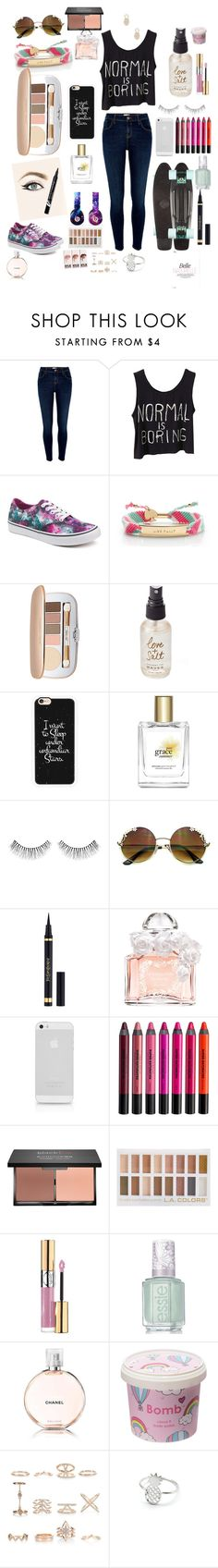 """""""normal is boring"""" by emma-r-villanueva ❤ liked on Polyvore featuring River Island, Vans, Kate Spade, Jane Iredale, Olivine, Casetify, philosophy, Beats by Dr. Dre, NARS Cosmetics and Yves Saint Laurent"""
