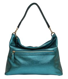 New Town Bag - Metallic Turquoise Shoulder Strap, Shoulder Bags, Small Bags, Crossbody Bag, Metallic, Product Launch, Turquoise, Cross Body, Shopping