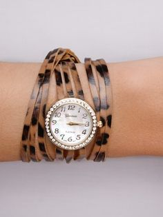 #Leopard + Jewel #Wrap #Watch from Frock Candy  Love my frock candy watch!