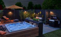 Hot Tub Backyard, Hot Tub Garden, Small Backyard Pools, Backyard Pool Designs, Backyard Patio, Hot Tub Pergola, Jacuzzi Outdoor, Outdoor Spa, Spa Jacuzzi