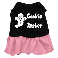 Mirage Pet Products Cookie Taster Screen Print Dress Black with Pink Sm (10) * To view further, visit now : Dog Dresses