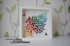 Dekorativer Bilderrahmen Schmetterling Material u. © by Stampin Up! 3d Frames, Ikea Frames, Picture Frame Decor, Butterfly Frame, Button Art, Paper Quilling, Shadow Box, Stampin Up, Projects To Try