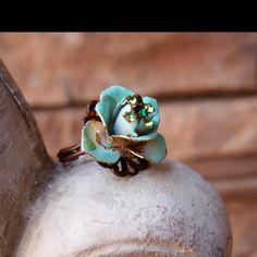 Repurposed vintage earring ring