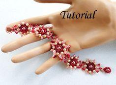 PDF for Marjolaine Beadwoven Bracelet - beading pattern tutorial - beaded seed bead jewelry - beadweaving. $5.50, via Etsy.