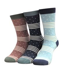 thought - Women's Catherine Print Bamboo Socks - Pack of 3 Pairs Bamboo Socks, Sustainable Fabrics, Organic Cotton, Packing, Cozy, Pairs, Thoughts, Fashion, Bag Packaging