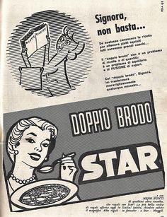 Pubblicità del Dado Star anni '60 #advertising, #vintage, #dadostar