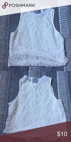 46bc27f0df282c White lace crop top New Tops Crop Tops
