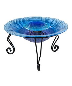 $59.99 Another great find on #zulily! Blue Glass Garden Fountain #zulilyfinds