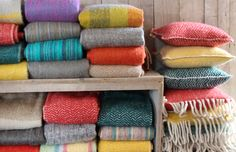 A lot of woolen throws from Imbarro