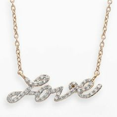 JLove by Jennifer Lopez 10k Gold 1/7-ct. T.W. Diamond Love Necklace #love