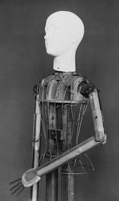 Super rare image showing an early 20th century dress display mannequin from the V Likely from the 1920s-30s