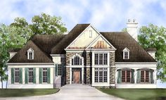 Dahlgren House Plan - 8006 - 3040 sqft - 4/3.1/3 - Needs to be more cottage look on exterior, floor plan works