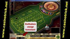 Besuchen Sie diese Website http://www.casinotrick.net/roulettesystem.htm Weitere Informationen zum Roulette-System. Aus diesem Grund kann ich mir kaum vorstellen, als neu angemeldeter Spieler mit einem Roulette System nach einer Woche einen 5-stelligen Betrag zur Auszahlung bringen zu können. Wie Sie dem Foto im Anhang entnehmen können habe ich im Übungsmodus immer wieder gewinnen können mit einem selbst ausgedachten System, dass sich aber an den Roulette Permanenzen orientiert.