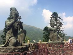 Statues at Big Buddha, Lantau Island
