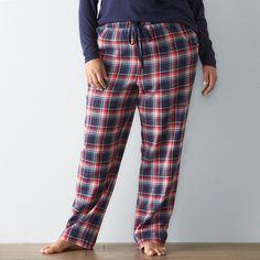 Plus Size SONOMA Goods for Life™ Plaid Flannel Pajama Pants, Women's, Size: