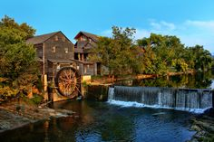 Loved this when I first visited, many years ago.  Water Wheel The Old Mill, Pigeon Forge, Tennessee