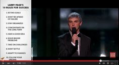 """""""He's #Google co-founder Larry Page and here are his Top 10 Rules for #success."""" =>"""