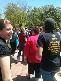 #bringbackourgirls - WIchita State University peaceful protest for awareness and support for action.