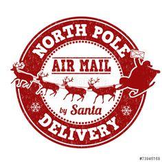 """Laden Sie den lizenzfreien Vektor """"North Pole delivery stamp"""" von Balint Radu zum günstigen Preis auf Fotolia.com herunter. Stöbern Sie in unserer Bilddatenbank und finden Sie schnell das perfekte Stockbild für Ihr Marketing-Projekt!"""