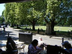 The view of the Village Green from The Cricketer's Pub, Richmond upon Thames, Surrey