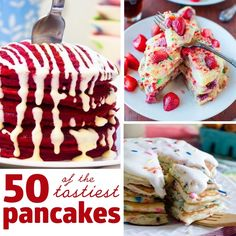 There is nothing like a delicious pancake first thing in them morning. Unless it is 47 delicious pancakes! We have found the best of the best pancake recipes to share with you today! What's For Breakfast, Breakfast Dishes, Breakfast Recipes, Mexican Breakfast, Birthday Breakfast, Waffle Recipes, Pancake Recipes, Cooking Recipes, Pancake Ideas