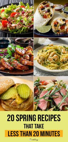 20 Spring Recipes That Take Less Than 20 Minutes: Keep it quick and seasonal with mouth-watering recipes the whole family can enjoy.