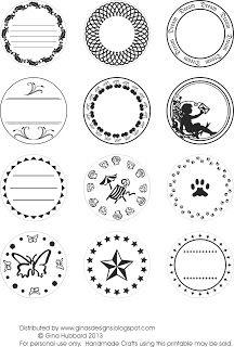 Gina's Designs: Freebie Friday Circular Labels