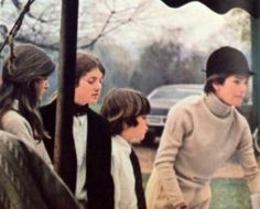 The Kennedy's at an equestrian event in 1971.