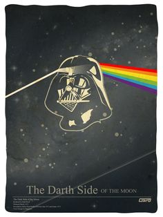 The Darth Side Of The Moon by Gerardo Carrillo, via Behance