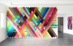 Conheça as instalações coloridas de Maya Hayuk http://followthecolours.com.br/art-attack/as-cores-de-maya-hayuk/
