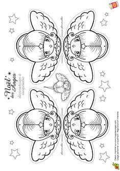Anges De Noel Decorations A Suspendre, page 1 sur 12 sur HugoLescargot.com Frugal Christmas, Christmas Love, Christmas Printables, Christmas Colors, Winter Christmas, Christmas Crafts, Christmas Decorations, Christmas Ornaments, Christmas Coloring Pages