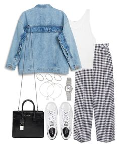 """""""Untitled #4397"""" by theeuropeancloset ❤ liked on Polyvore featuring Sonia Rykiel, Helmut Lang, Monki, adidas, Yves Saint Laurent, ASOS and Casio"""