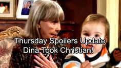 The Young and the Restless Spoilers: Thursday, January 4 Update - Dina Took Christian – Sharon Rejects Scott's Proposal | Celeb Dirty Laundry
