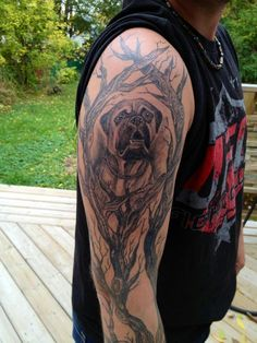 Bullmastiff tattoo