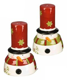 Take a look at this Snowman Salt & Pepper Shaker Set by What To Give: Teachers & Hostesses on #zulily today!