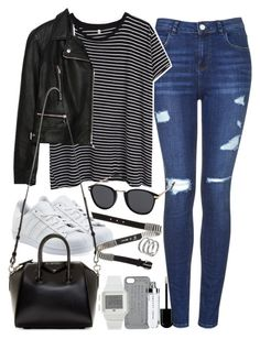 """Outfit for shopping"" by ferned ❤ liked on Polyvore featuring Topshop, R13, adidas Originals, Zara, Givenchy, MINKPINK, McQ by Alexander McQueen, Marc by Marc Jacobs, adidas and Apt. 9"