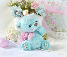 Купить Савушка (6 см) - бирюзовый, голубой, розовый, теддик, медвежонок, мишка тедди