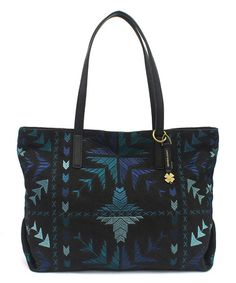Loving this Cool Black Arrows Asha Zip Tote on #zulily! #zulilyfinds