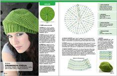 Green bonnet with diagram