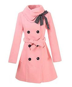 A beautiful pink jacket for winter