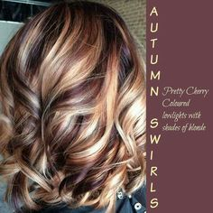 Jan 2016 - Blonde highlights on dark hair are making a comeback. WARNING: These bombshell blonde highlights on dark hair will make you jealous. Hair Color And Cut, Haircut And Color, Cherry Cola Hair Color, Chocolate Cherry Hair Color, Great Hair, Awesome Hair, Pretty Hairstyles, Hairstyle Ideas, Elegant Hairstyles