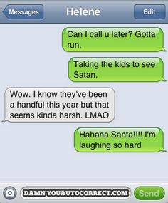 Smartphone auto-corrects - Satan