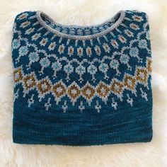 Starfall kits in the same yarn and colorways as my original pattern sample are now available from ✨ 💙🌙 Kits can… Icelandic Sweaters, Fair Isle Knitting Patterns, Vogue Knitting, Pulls, Knitwear, Knit Crochet, Textiles, Knitted Hats, Jumpers