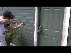 How to paint a door while not taking it down