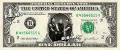 The Shield on REAL Dollar Bill - Collectible Celebrity Cash Money - WWE